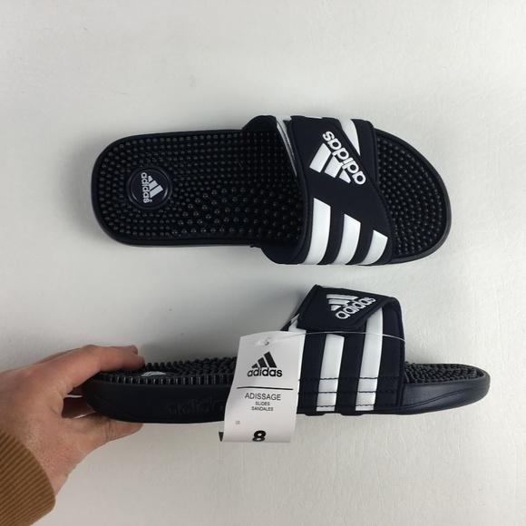 9b6fb258579a Adidas Navy Adissage Slides A116403